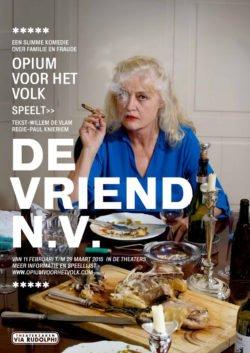 affiche van 'De Vriend N.V.' een komedie over geld en generaties.