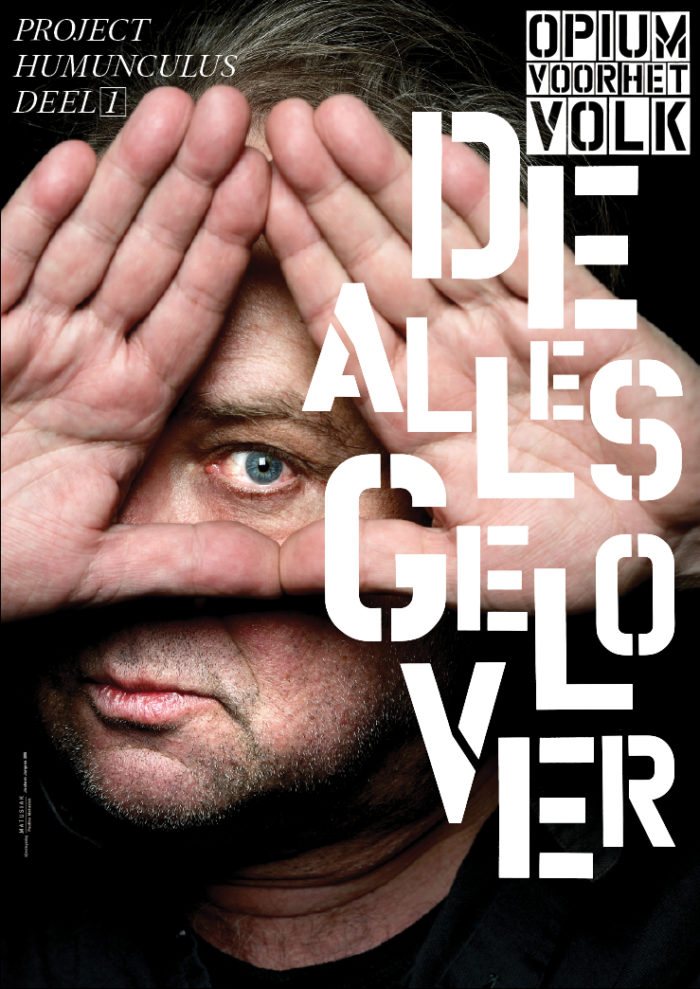 Affiche 'De Allesgelover' met Bart Klever